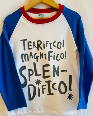 Remera manga de nene color azul
